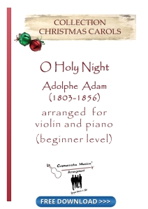 O Holy Night for violin and piano